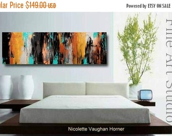 "Original abstract Oil gallery canvas contemporary palette knife 48""abstract  painting by Nicolette Vaughan Horner"