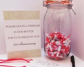 Personalised Wedding Mr & Mrs Kilner Jar Message in a bottle Guest Book Kit Available in 2 sizes