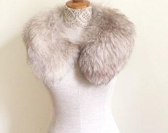 Real Fur Collar - Winter Coat Collar - White Fur Coat Collar - Nordic Winter