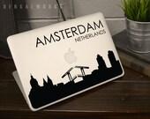 Amsterdam Skyline MacBook Decal 4 | Macbook Sticker | Laptop Decal | Laptop Sticker | Car Sticker