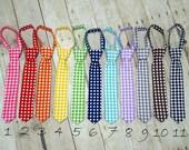 Boys Gingham Necktie Baby Infant Toddler Neck tie Photo Prop