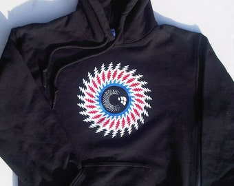 Lightning bolt eye hoodie - Grateful Dead / Furthur / Jerry Garcia / Phish / SCI / hippie inspired