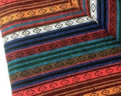 Thai Woven Cotton Fabric Tribal Fabric Native Fabric by the yard Ethnic fabric Aztec fabric Craft Supplies Woven Textile 1/2 yard (WF55)