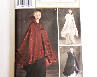 Simplicity 4947 Cape Pattern, Misses One Size, Teresa Nordstrom Vintage Closet 1920s Style Cape, Theater Prom Evening Wrap itsyourcountry