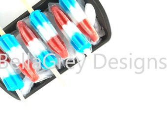 Styled Stock Photography | Red, White and Blue | 4th of July | Popsicles | Product Photography | Digital Image
