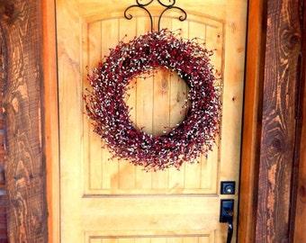 Valentines Door Wreath-Valentines Day Decor-RED & WHITE Door Wreath-Winter Door Wreath-Summer Home Decor-Custom Made Scented Wreath