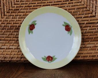 Vintage Floral Dessert Plate - Epiag Czechoslovakia