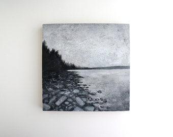 Adirondack Landscape Painting - 8 x 8