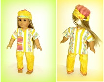 Medical Scrubs Doll Outfit by traveller240, Handmade 18 inch Doll Clothes fits Soft Body dolls such as American Girl
