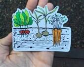Veggie Garden Sticker