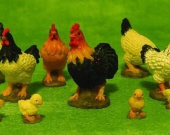Dolls House Miniature Chicken or chicks