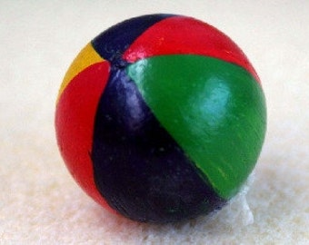 Dolls House Miniature Set Of 2 Beach Balls