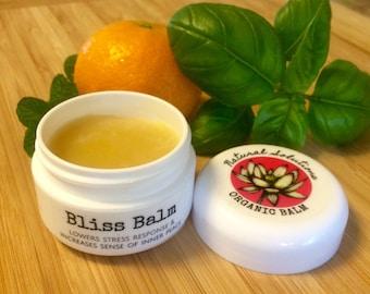 Bliss Balm - Organic Wellness & Meditation Balm - (Stress Relief, Centering, Calming, Awakening, Bliss) 1/2 oz.
