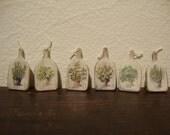 dollhouse miniature cutting board, walnut