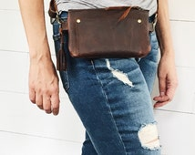 10.00 off sale, leather fanny pack, leather hip bag, brown leather, belt bag, travel pouch, festival fanny pack, travel hip bag, fanny pack