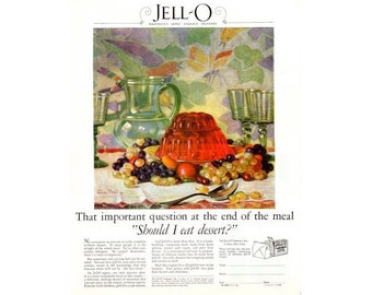 Instant Download Printable Art, Lemon Jell-O, Jello, Kitchen Decor, Blue, Wall Art Decor, Digital Download Print