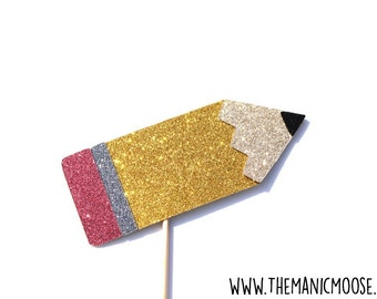 Pencil Photo Booth Props ~ Glitter Photo Booth Props