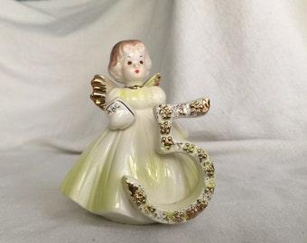 Josef Originals figurine 5 birthday angel figurine 651638  fairy 5th fifth birthday original label Applause Inc