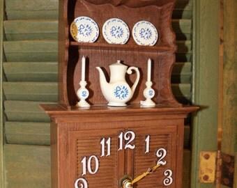 Vintage Kitchen Hutch Clock