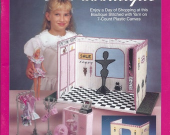 Needlecraft Shop Carry & Play Fashion Doll Boutique Plastic Canvas Pattern