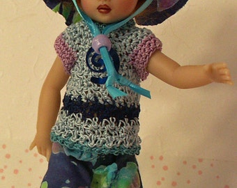 """Swirl Delight for NEW TINY [6.5""""] Riley Kish by JDL Doll Clothes"""