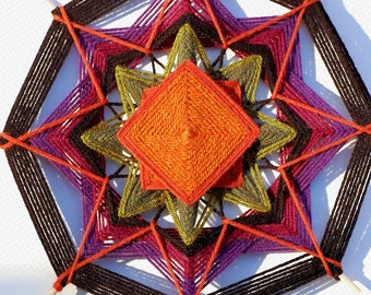 Roots 12 inch Yarn mandala god's eye ojo de dios