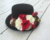 Frosty Mini Top Hat, girl frosty, Christmas hat, Baby hat, newborn hat, adult hat