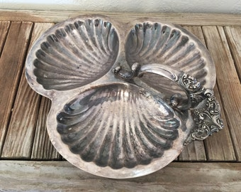 Vintage Wallace Silver Shell Serving Tray