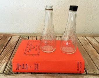 Set of Lo Choy Mid Century Glass Bottles