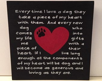Loving a dog signs for a home, dogs, pets, dog sign, pet sign, pet wall art
