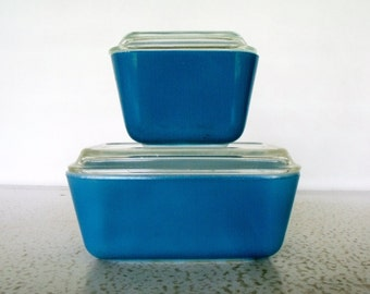 Pyrex Refrigerator Dish Set 2 Blue