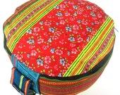 Embroidered  Meditationcushion Yoga Floor Seat Cushion - Zafu Pillow Handmade from Germany