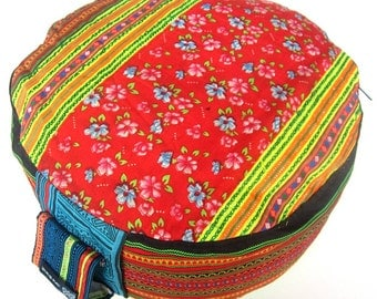 Embroidered  Meditationcushion Yoga Floor Seat Cushion - Zafu Pillow Handmade from Germany