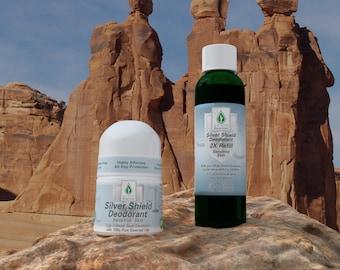 Silver Botanicals' Silver Shield Deodorant Sensitive Skin and Refill, All-Natural, Aluminum-Free, Colloidal Silver Deodorant