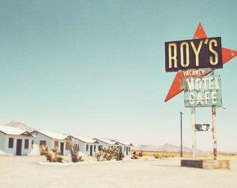 Retro Art Print, Route 66 Photography, Roy's Motel Print, Roy's Motel Art, Route 66 Print, Route 66 Art, Road Sign Art, Road Sign Print