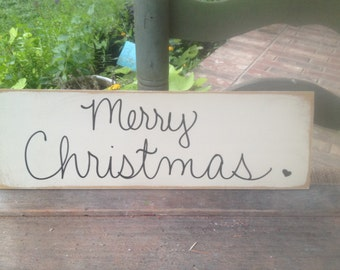 Black and Ivory Merry Christmas Photo Prop Sign, Neutral Color Photo Prop Signs, Signs for Christmas Cards