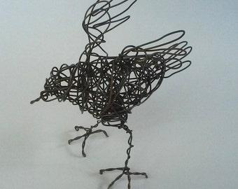 Original Handmade Wire Bird Sculpture - FLUTTERBIE