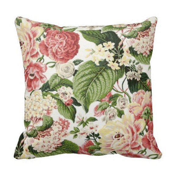 Decorative Throw Pillows Etsy : Items similar to floral pillows, couch pillows, decorative pillows, pillows, floral throw ...
