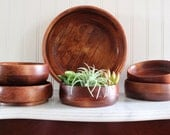 Mid Century Wood Bowls - Wooden Bowl, Key Bowl, Home Decor - Mid Century Modern Decor