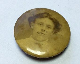 Victorian Portrait Photo Pin Brooch