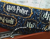 Harry Potter - Zippered Pouch - Wallet - Makeup Bag - Wristlet - Custom - Made to Order - Quick Shipping