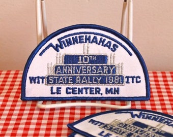 vintage iron on patch - '10th ANNIVERSARY' Minnesota state rally c.1981