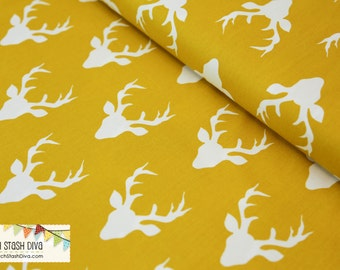 NEW - Hello Bear Buck Forest Mustard Yellow from Art Gallery -  IN STOCK