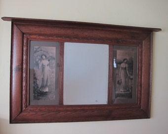Antique Rare Large Wall Mirror ~ Art Nouveau Wall Decoration Home Decor, Unique Housewarming Gift Ideas, Wedding Present for Newlyweds