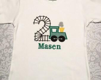 Train Birthday Shirt, Applique Birthday Shirt Boy, toddler birthday shirt, 2nd birthday shirt boy, Birthday Shirts for Boys