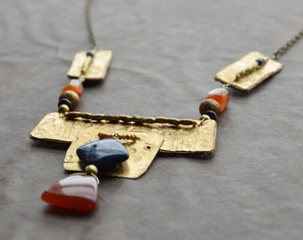 Egyptian Queen Lapis and Carnelian necklace