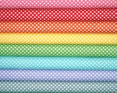 Fat Quarter Fabric bundle for quilt or craft Riley Blake Polka Dot Fabric Stash Builder bundle 8 Fat Quarters