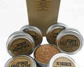 The PIT MASTER Barbecue Gift Set - Six Large BBQ Rubs in Box with Recipes - Perfect Gift for Your Guy