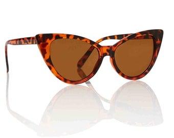Nicky Tortoise Cat Eye Sunglasses - Brown X American Deadstock Eyewear