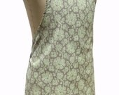 Decorative Green Floral fabric 'Kitchen Basics' Apron - Christmas Birthday, Gift Idea . Woman's / Ladies . HANDMADE .